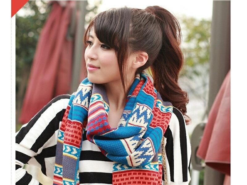 ~316小舖~~YA05~^(民族復古毛線保暖加厚加寬圍巾~單件價 雙人圍巾 加寬圍巾 生