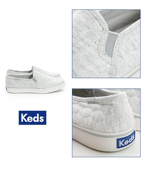 Keds 復古運動厚底休閒便鞋-淺灰(限量) 套入式│懶人鞋│平底鞋│ 6