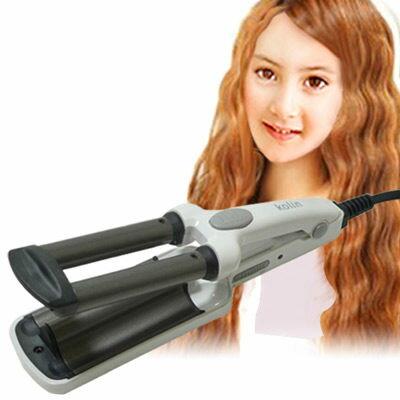 【威利家電】【刷卡分期零利率+免運】Kolin 歌林輕巧型三管電髮棒捲燙髮夾 KHR-HC01