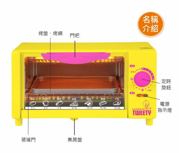 【威利家電】 【分期零利率+免運】Tweety 6L小烤箱 TO-001