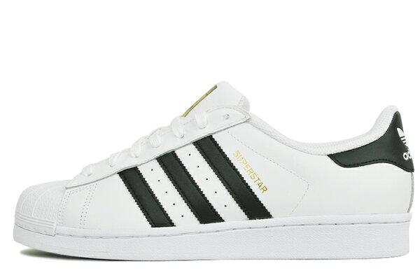 【清倉特價】38.5碼 Adidas C77124 愛迪達三葉草貝殼頭經典金標運動鞋 情侣鞋