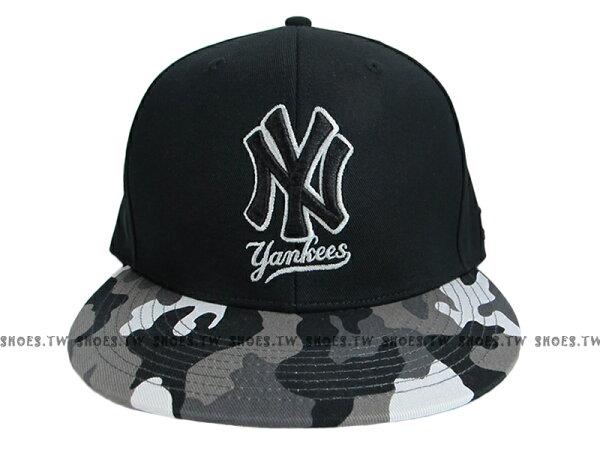 《降價7折》Shoestw【5562004-025】MLB 棒球帽 調整帽 潮流帽 洋基隊 黑灰迷彩 英文字