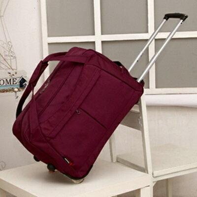 行李袋 旅行拉桿包 -可摺疊防水牛津布手提男女商務包 5色73b2【獨家進口】【米蘭精品】