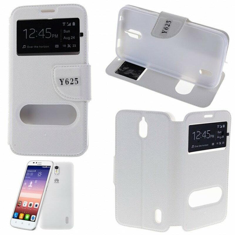 Funda Tipo LIBRO DOBLE VENTANA Stand Huawei Y625 (Color Opcional) 4