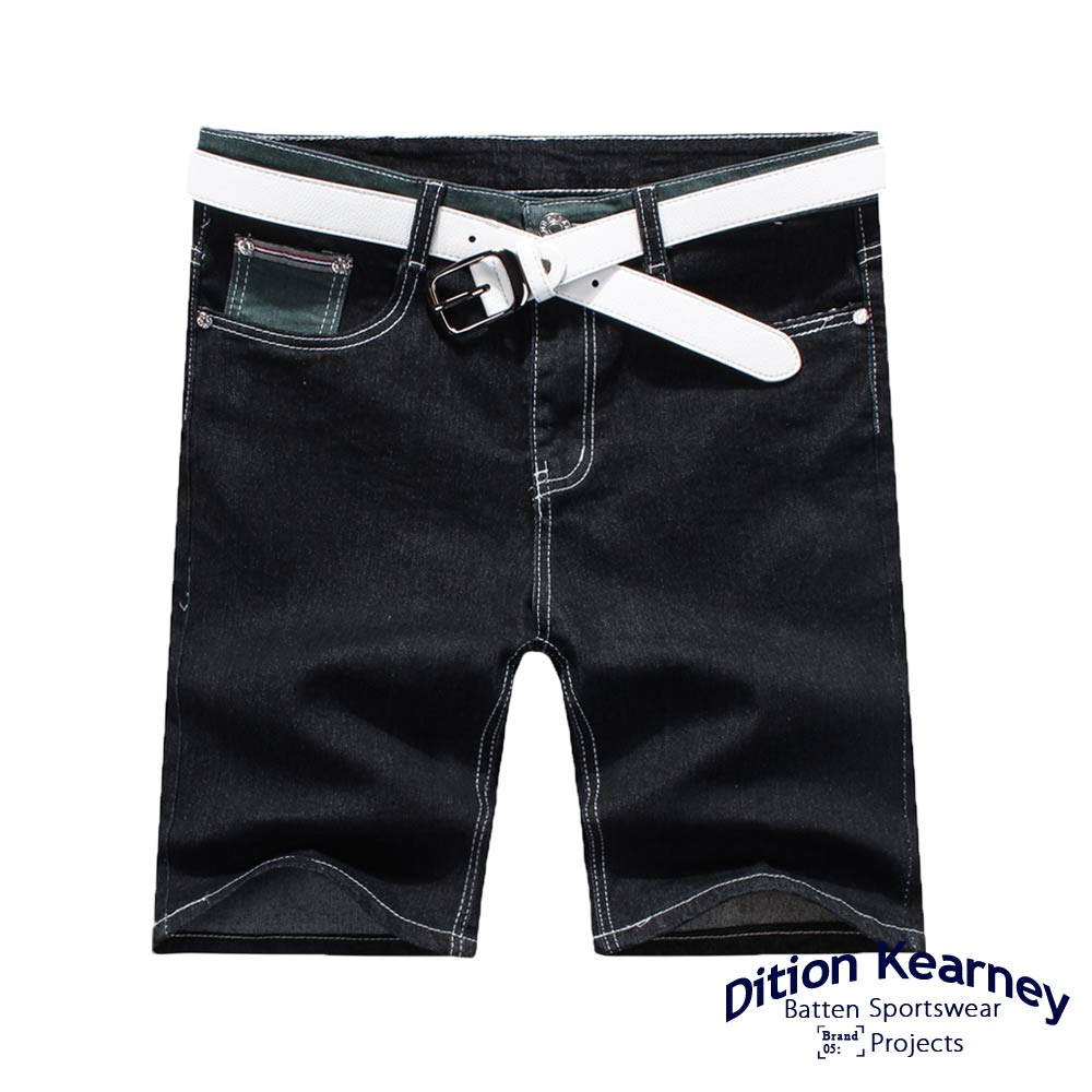 DITION SHOP 紅藍白布邊JEANS牛仔短褲 高磅DENIM 1