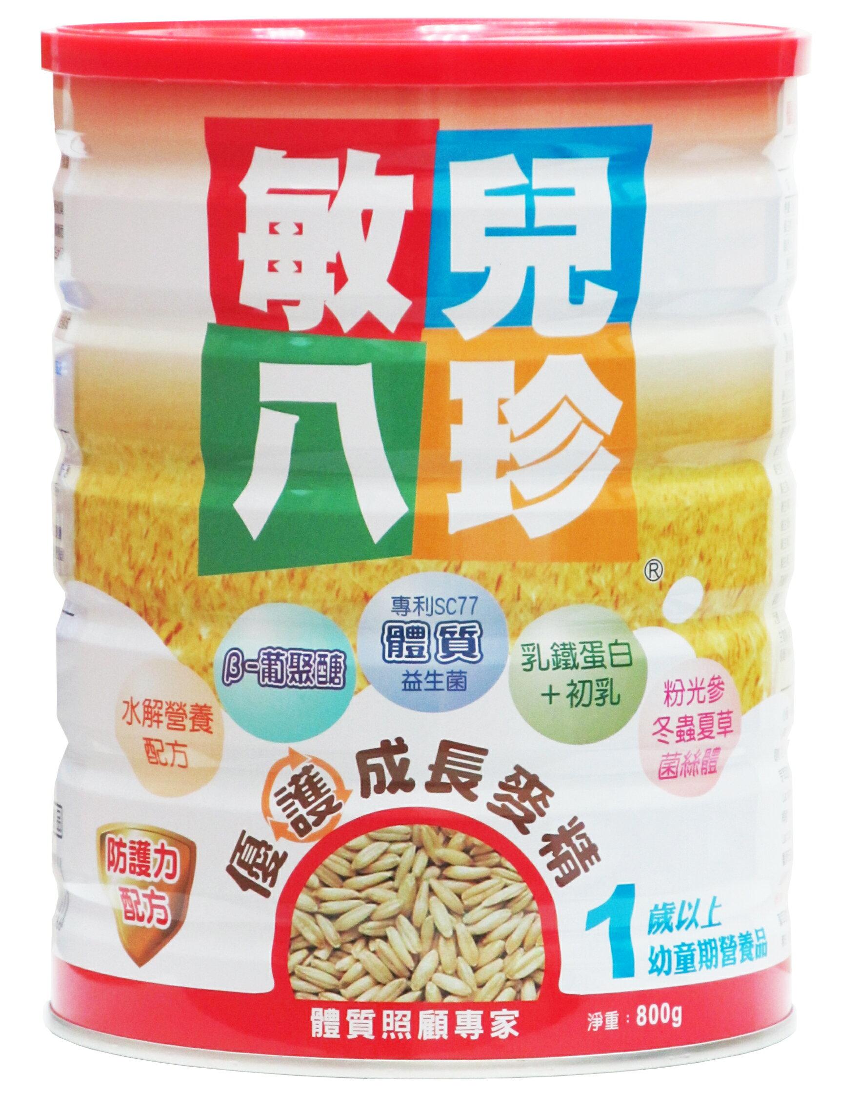 『121婦嬰用品』敏兒八珍優益菌優護成長麥精800克 2罐組 0