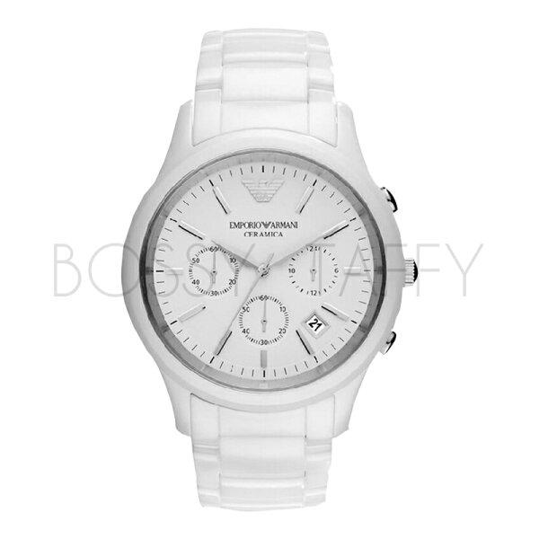 AR1453 ARMANI 亞曼尼 時尚陶瓷白色男錶