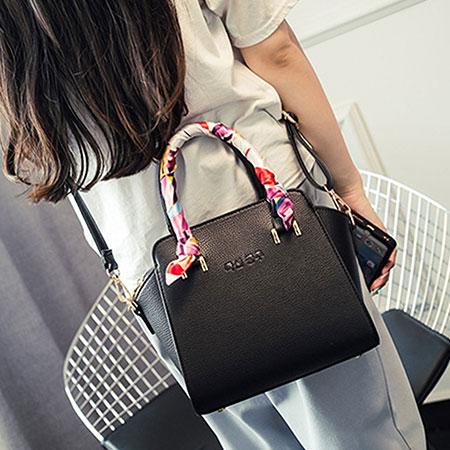側背包 時尚質感絲巾手提包【O3142】☆雙兒網☆ 8
