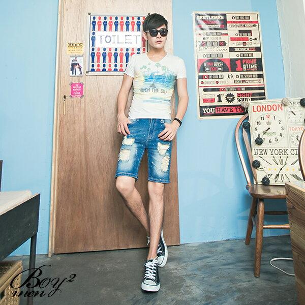☆BOY-2☆【NR01051】短袖T恤韓版潮流三角形彩色印花短T 2