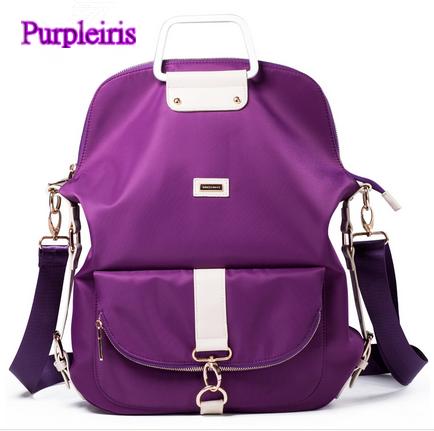 【鳶尾紫】紫色包包 紫色女包 輕便 後背包  最新款女包 尼龍女包女士手提包單肩包斜跨包牛筋布包潮流輕便防水防盜耐刮