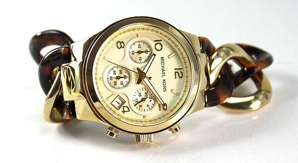 美國Outlet正品代購 MichaelKors MK 玳瑁三環 手鍊 手錶 腕錶 MK4222 4