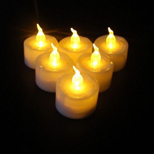 PS Mall 萬聖節用品 聖誕裝飾 婚禮宗教LED蠟燭 電子蠟燭【J2084】