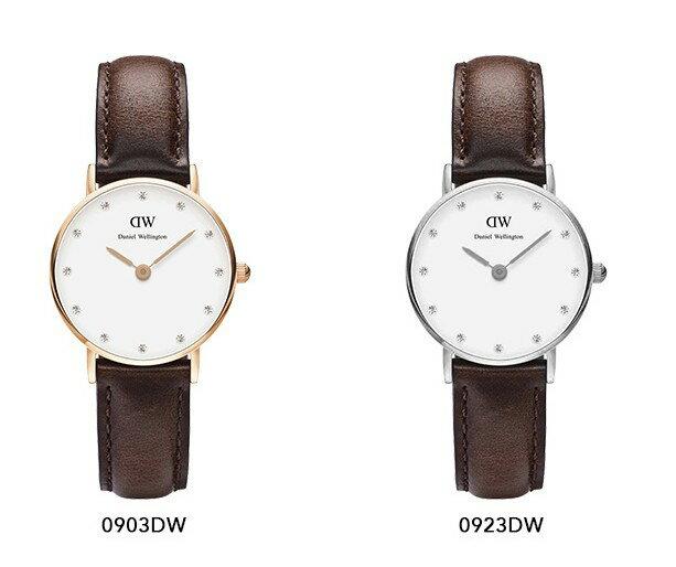 瑞典正品代購 Daniel Wellington 0903DW  玫瑰金鑽  真皮 錶帶 男女錶 手錶腕錶 26MM 2