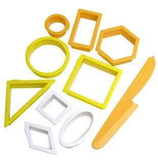 WABA fun 橘黃色模具 動力沙/黏土都可用 *夏日微風*