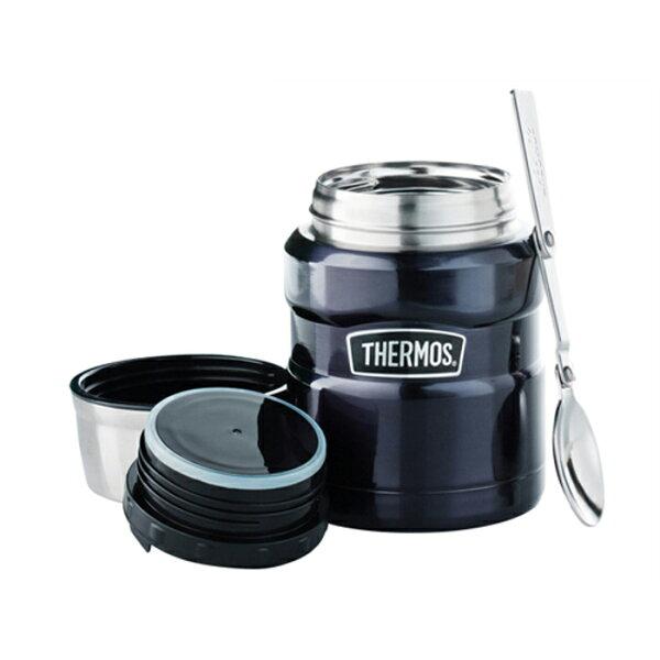 美國 THERMOS 膳魔師 sk-3000 不鏽鋼真空燜燒食物罐/保溫杯 470ml sk3000 藍色 *夏日微風*