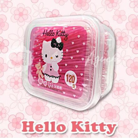 Hello Kitty 凱蒂貓扁線牙線棒 120支(盒裝) 1