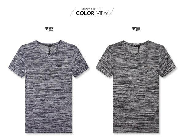 ☆BOY-2☆【LL1006-1】休閒滿版線條素面圓領短袖T恤 1