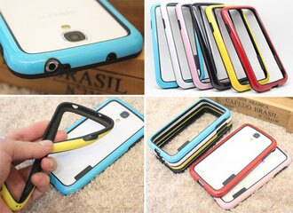 [A014]矽膠 雙色 TPU 軟邊框 iphone 6 plus 5s 5C 4S S4 S5 note 2 3 4 Z3 Z2 Z1 compact 手機殼 保護殼 軟框