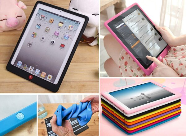 創美【B010】new ipad 2 3 4 5 IPAD air mini 2 retina 聰明豆 糖果 保護套 平板 矽膠套 軟殼 果凍套