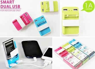創美【D015】三合一旅充智能雙USB快充電池萬用充電器插頭 iPhone 6 NOTE 2 3 4 S5 M8 Z3 紅米 ZENFONE 5 6