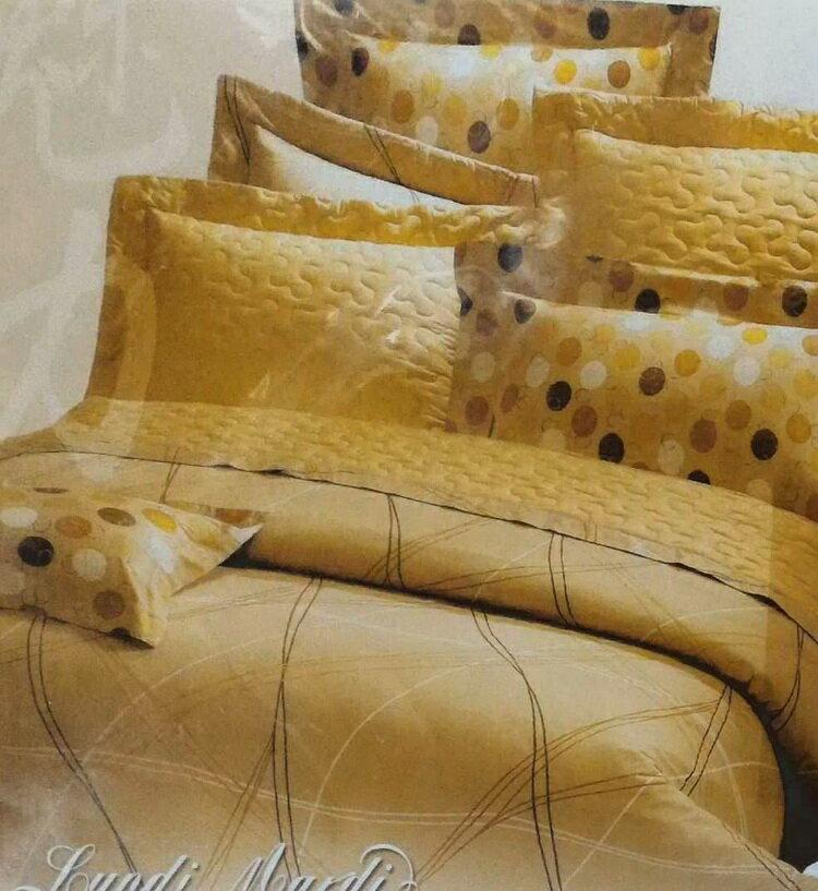 [床工坊]台製高級精梳棉 [半套}鋪棉厚床罩(包)+枕頭套(無被套) 1