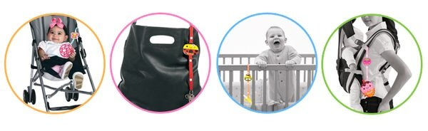 『121婦嬰用品館』 拉孚兒 玩具好朋友-小東西掛帶 (草莓) 1