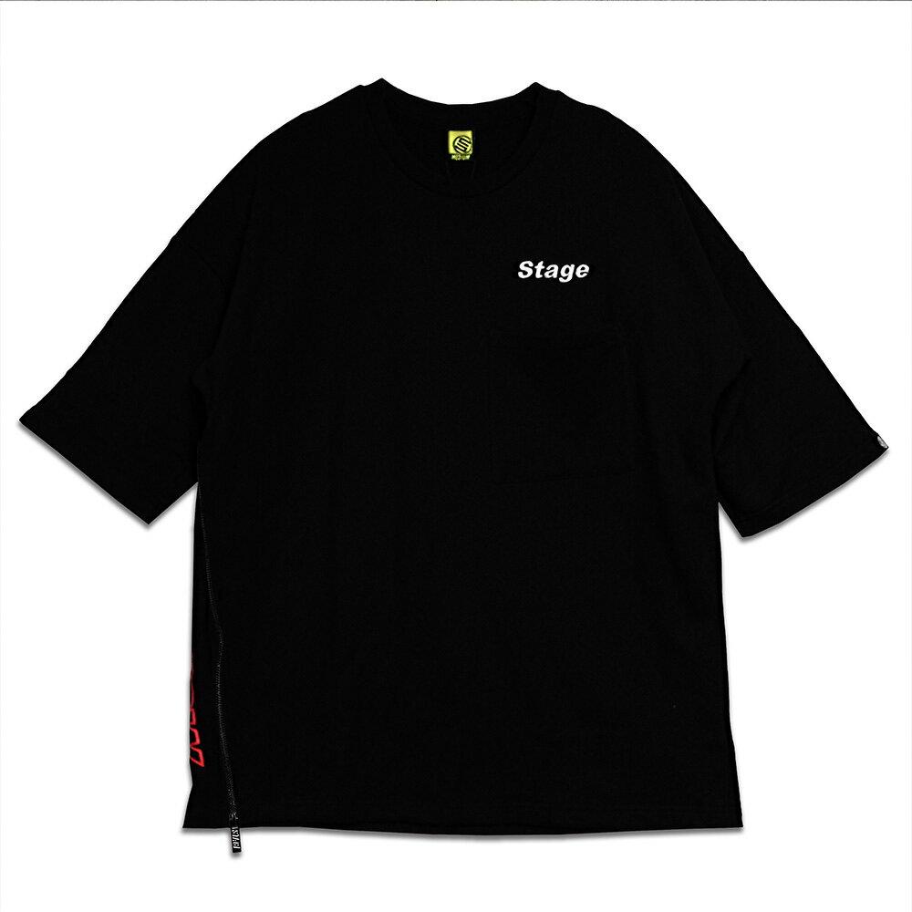STAGE TEE ZIPPER SS BIG TEE 黑色 / 白色 兩色 6