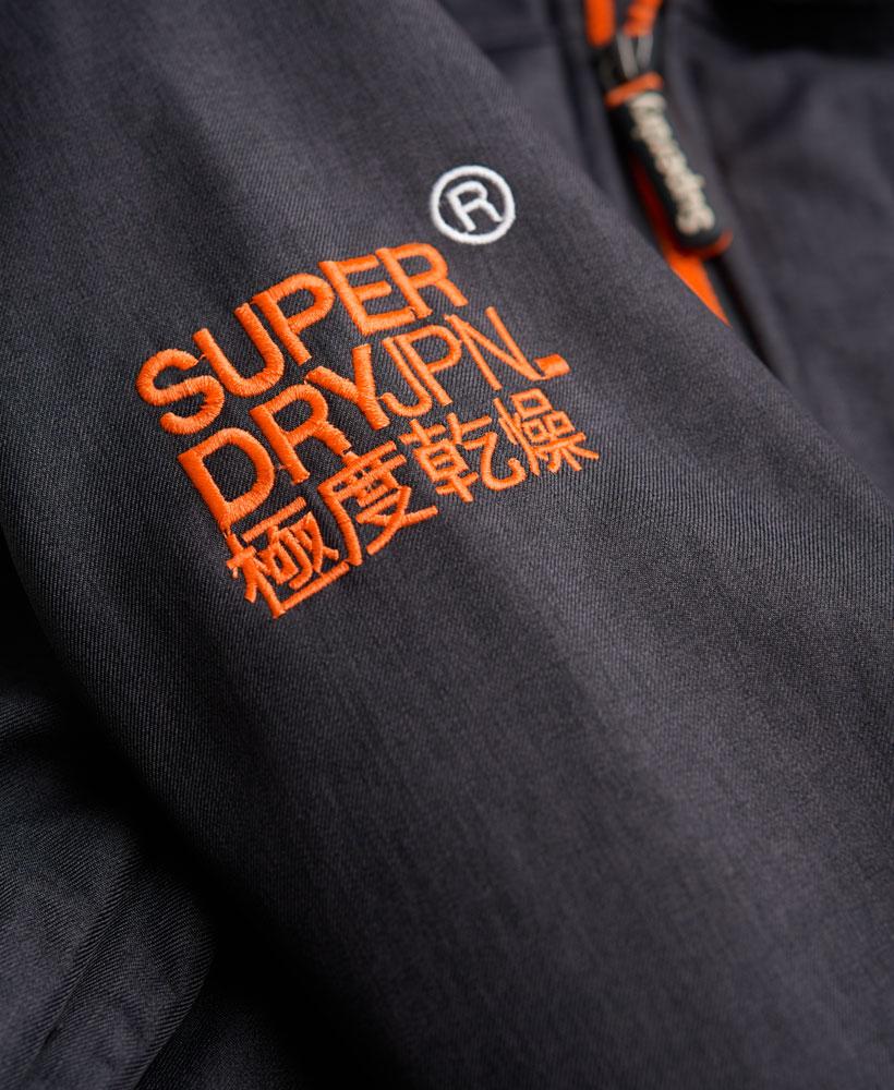 英國名品 代購 極度乾燥 Superdry Windtrekker 男士風衣戶外休閒外套 防水 深灰/螢光橙 5
