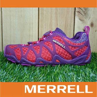 MERRELL AQUATERRA 水陸涼拖鞋 女款 快乾溯溪 兩棲登山健行鞋 抓地大底 桃紫色