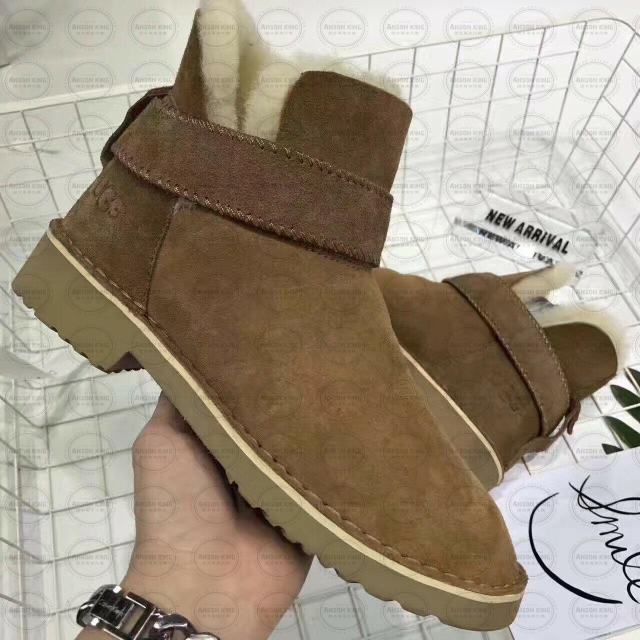 OUTLET正品代購 澳洲 UGG 羊皮毛一體馬汀靴 中長靴 保暖 真皮羊皮毛 雪靴 短靴 棕色 1