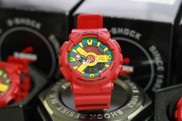 《香水樂園》現貨供應 紅樂高 G-SHOCK CASIO GA-110 卡西歐 雙顯 防水 手錶 GS-2011 GA-110FC-1A