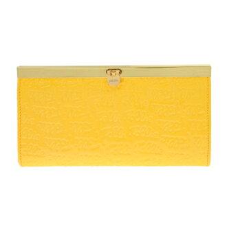 《香水樂園》 FOLLI FOLLIE 全新 長夾 手拿包 多層收納皮夾 皮包 鮮黃色