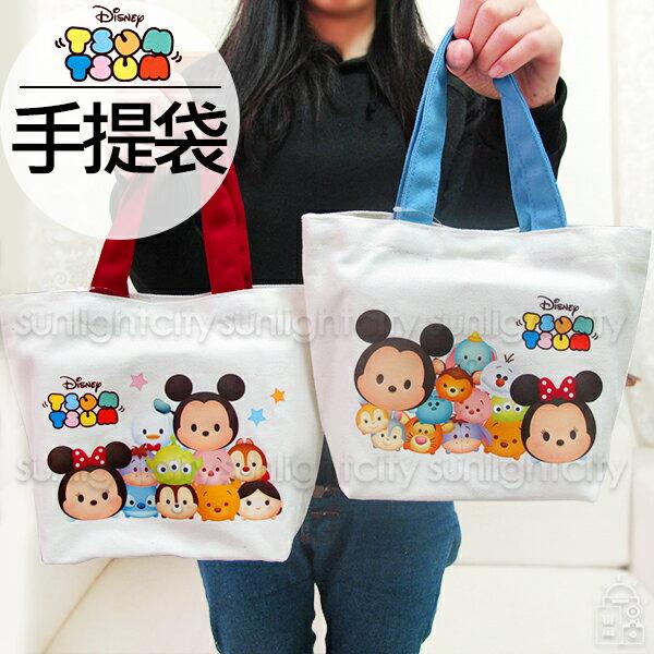 日光城。TsumTsum帆布手提袋,迪士尼小提袋手提包購物袋外出包萬用袋收納袋便當袋