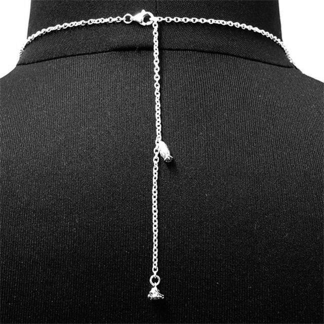 【海外訂購】【KONRON】我愛玫瑰純銀項鍊 45cm(KRP0715-Cz  03643900G2) 4