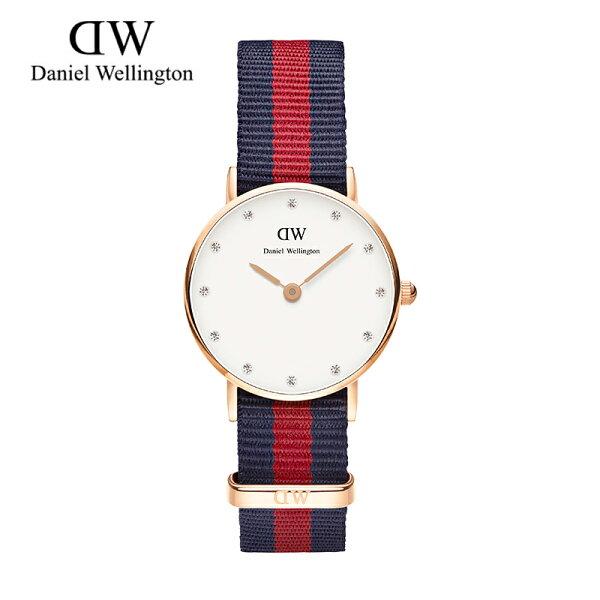 26MM 0905DW 銀 玫瑰金 尼龍 帆布錶帶 瑞典正品代購 Daniel Wellington 女錶手錶腕錶