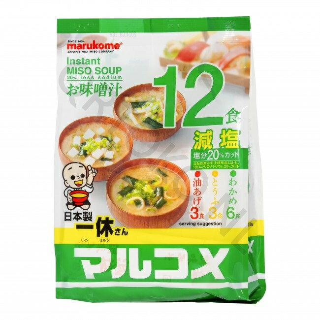 一休12入減鹽即食味噌湯