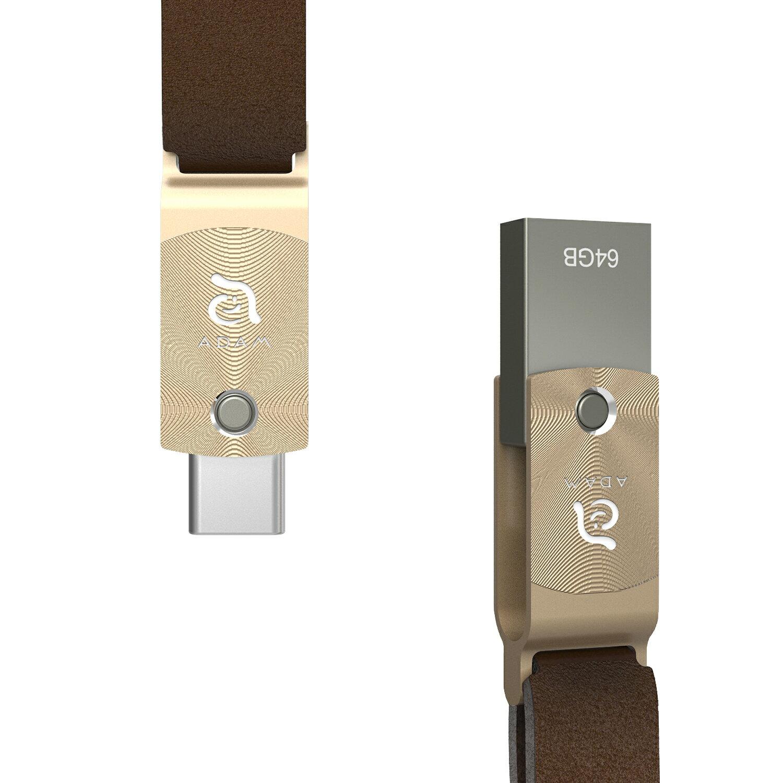 【亞果元素】 ROMA USB Type-C 雙用隨身碟 64GB 金 1