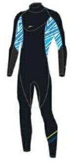 【7號公園自行車】SPEEDO 成人長袖連身防寒衣1.0mm 長袖