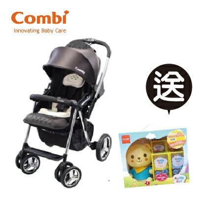 【本月贈市價$1780奶瓶組預購11月中到貨】日本【Combi】Mega Ride DX 嬰兒手推車-黑 (1~48個月) 0