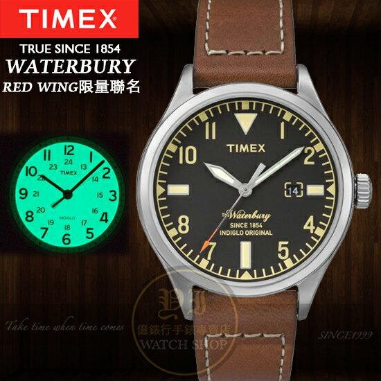 TIMEX美國第一品牌x RED WING限量聯名Waterbury系列腕錶TXT2P84000公司貨/禮物