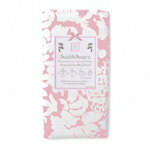 美國【Swaddle Designs】薄棉羅紗多用途嬰兒包巾 (繁花粉紅)