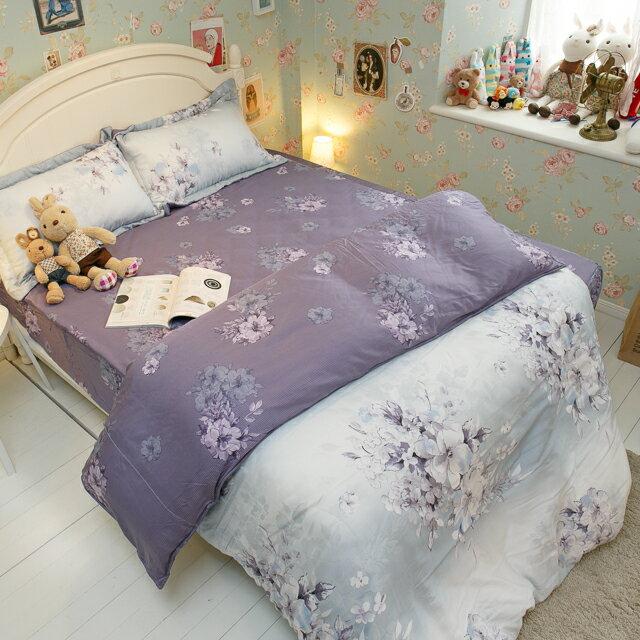天絲床組  紫花風鈴木 多種尺寸組合賣場 100%木漿纖維 3