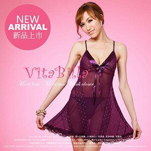 【伊莉婷】VitaBilla 魅惑綺想 睡裙+小褲 二件組 A002720641 0