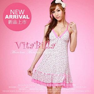 【伊莉婷】VitaBilla 花樣新娘 睡裙+小褲 二件組 A002920835 0