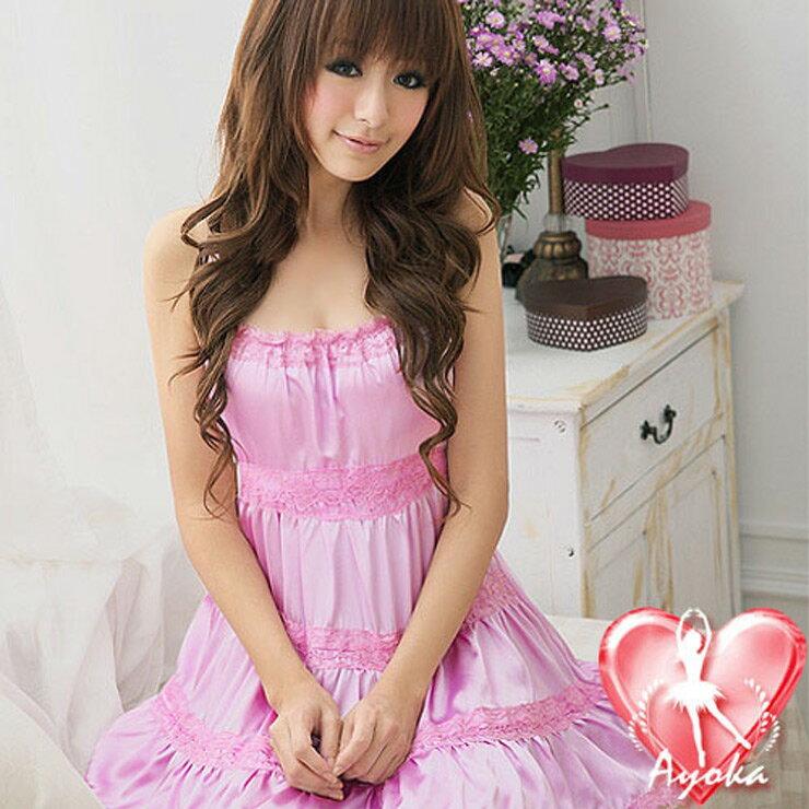 【伊莉婷】嬌俏可人!美背式緞面睡襯衣 A020467 0
