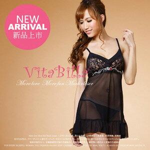 【伊莉婷】VitaBilla 濃情伊戀 睡裙+小褲 二件組 A500820649 0