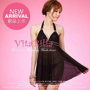 【伊莉婷】VitaBilla 一代佳人 睡裙+小褲 二件組 A506820647 0