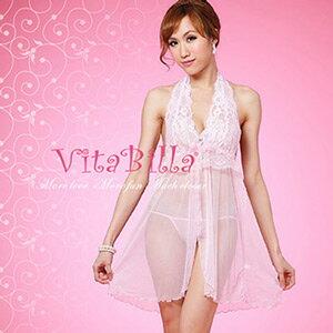 【伊莉婷】VitaBilla 粉色蕾絲  睡裙+小褲 二件組 B509900218 0