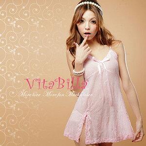 【伊莉婷】VitaBilla  粉粉最愛 睡裙+小褲 二件組 G001620023 0