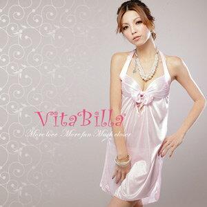 【伊莉婷】VitaBilla 粉紅公主 LUCKMATE 花樣年華 睡裙+小褲 二件組 G002510001 0
